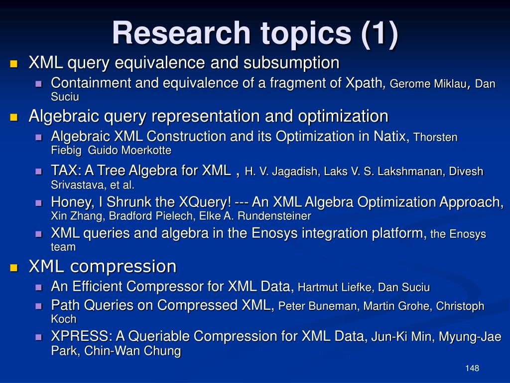 Research topics (1)