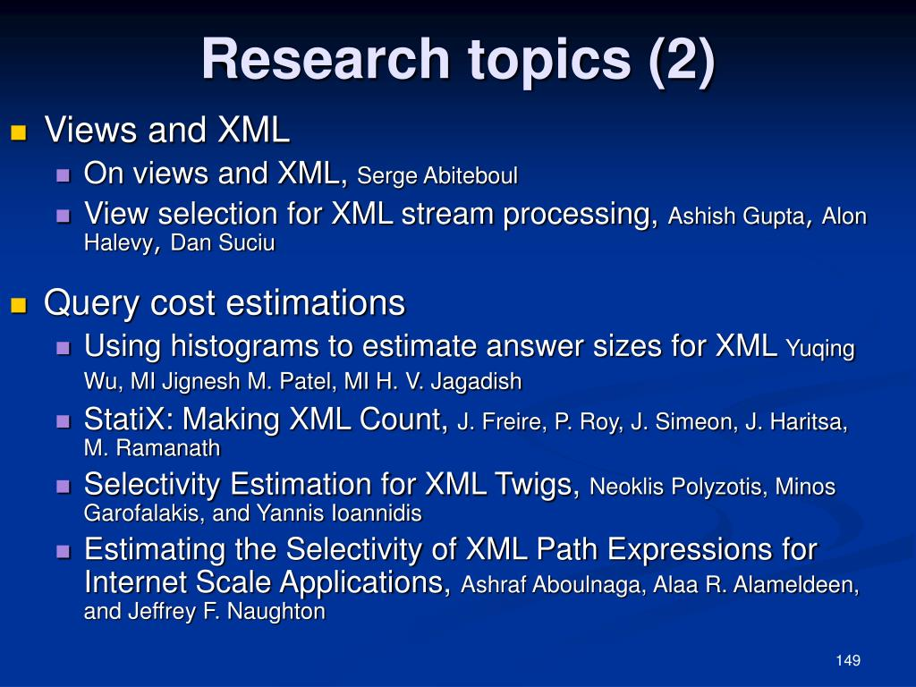 Research topics (2)