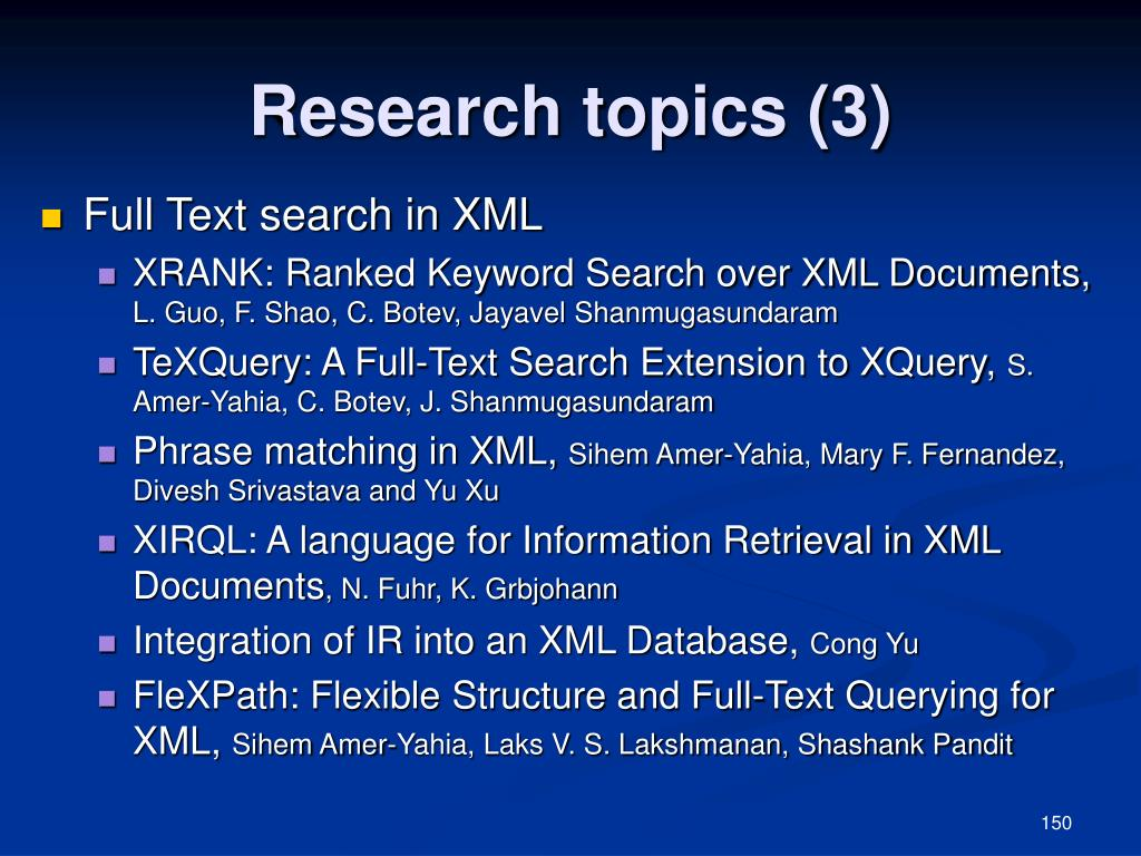 Research topics (3)
