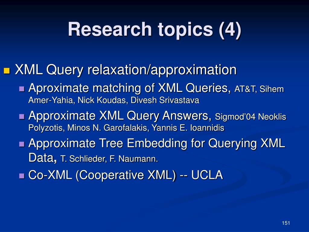 Research topics (4)