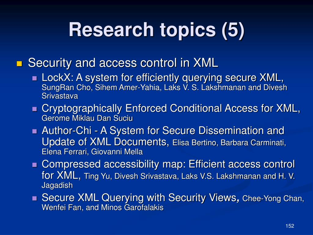 Research topics (5)
