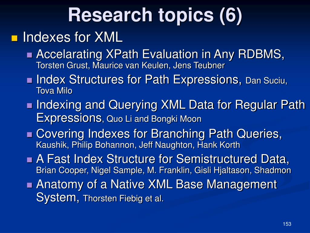 Research topics (6)
