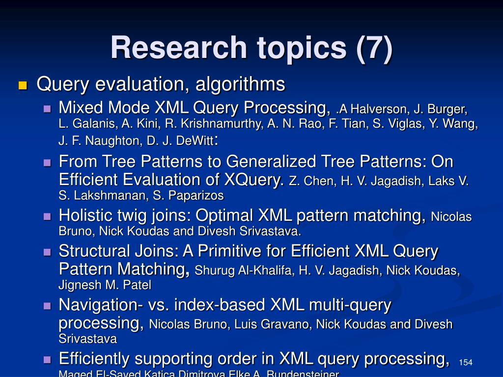 Research topics (7)