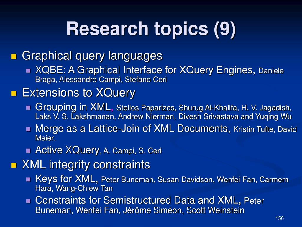Research topics (9)