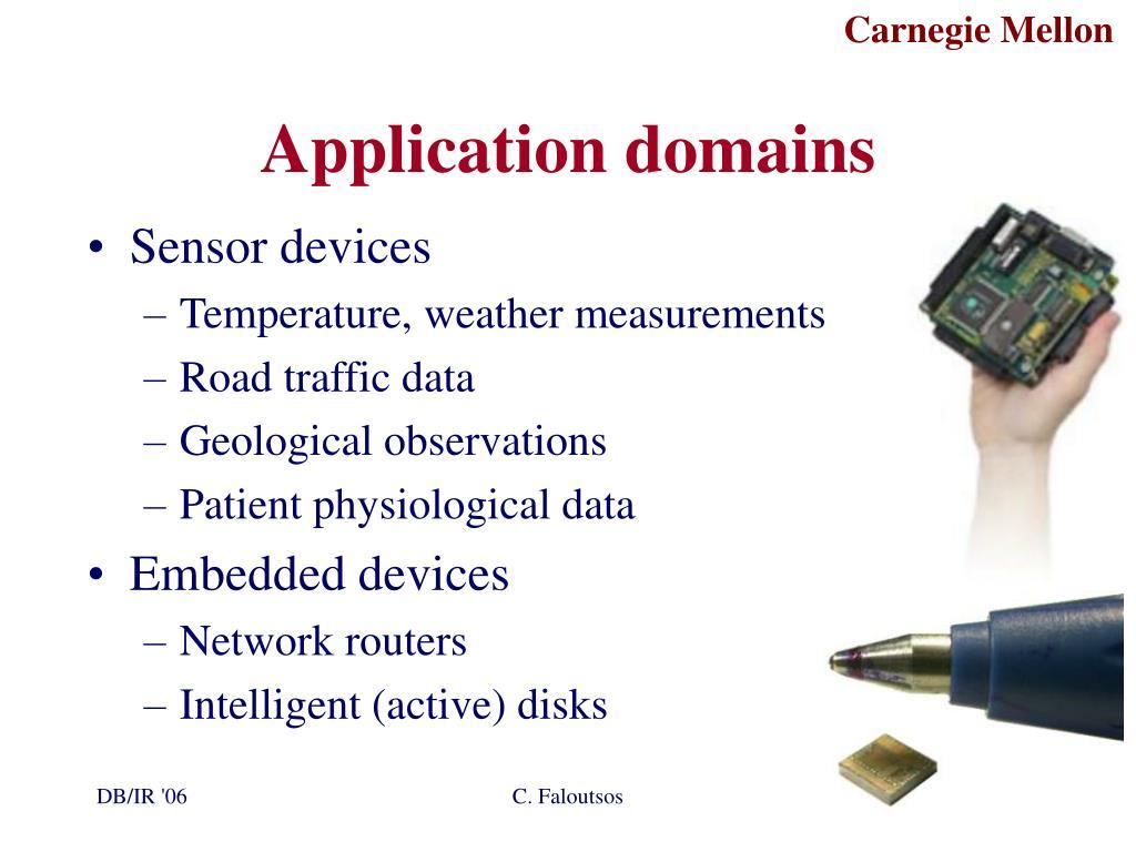 Application domains