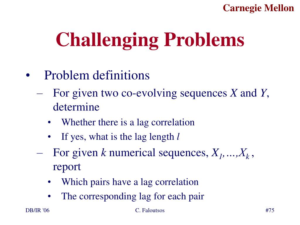 Challenging Problems