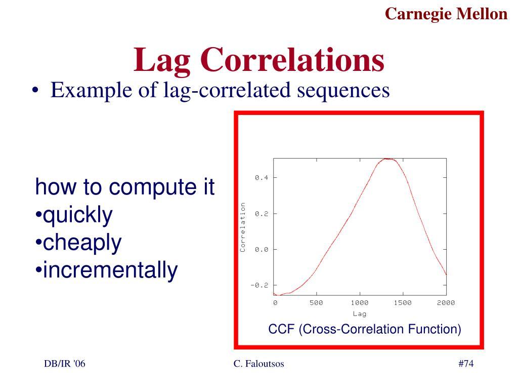 Lag Correlations