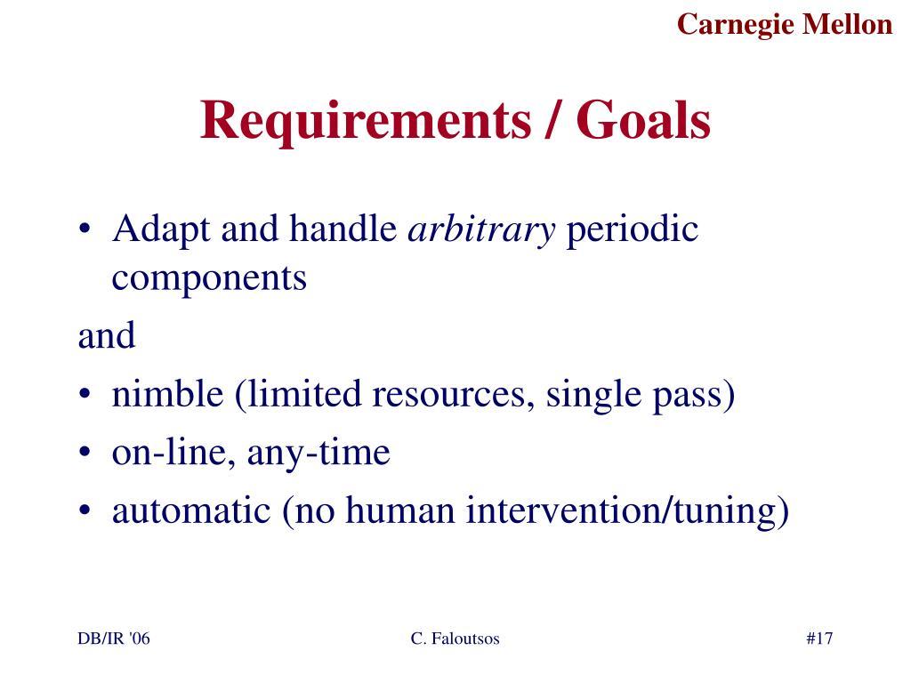 Requirements / Goals