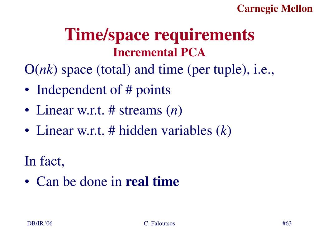 Time/space requirements