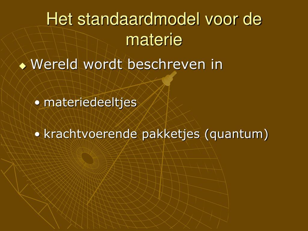 Het standaardmodel voor de materie
