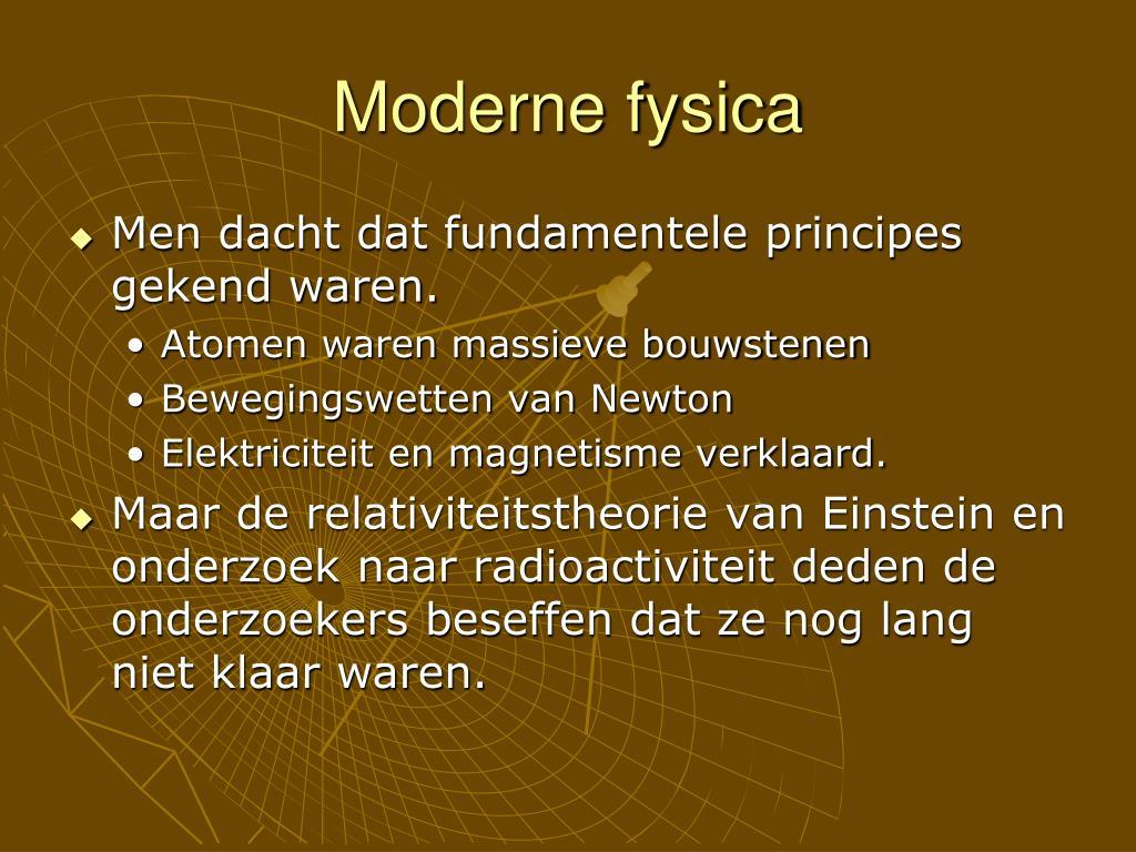 Moderne fysica