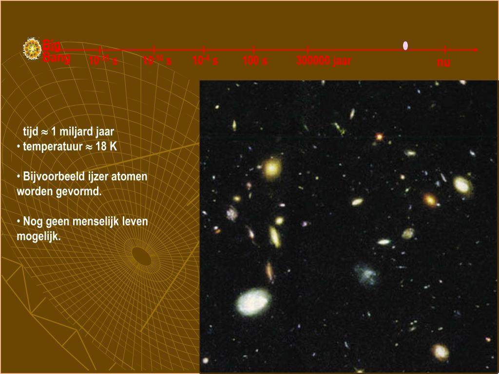 Galaxiën en zware atomen worden gevormd