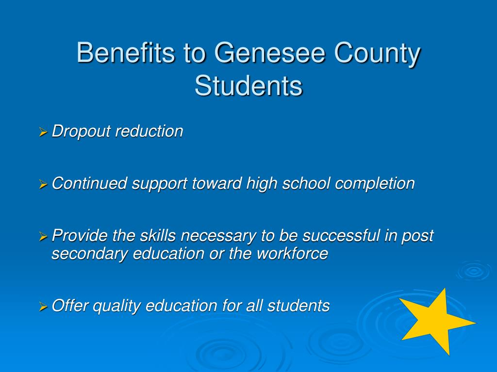 Benefits to Genesee County Students