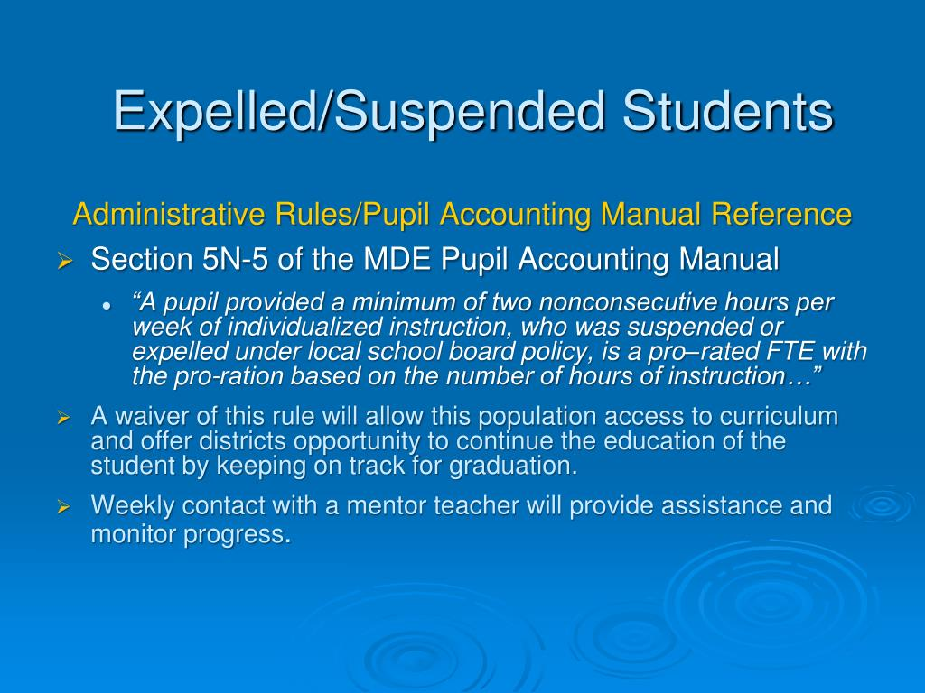 Expelled/Suspended Students