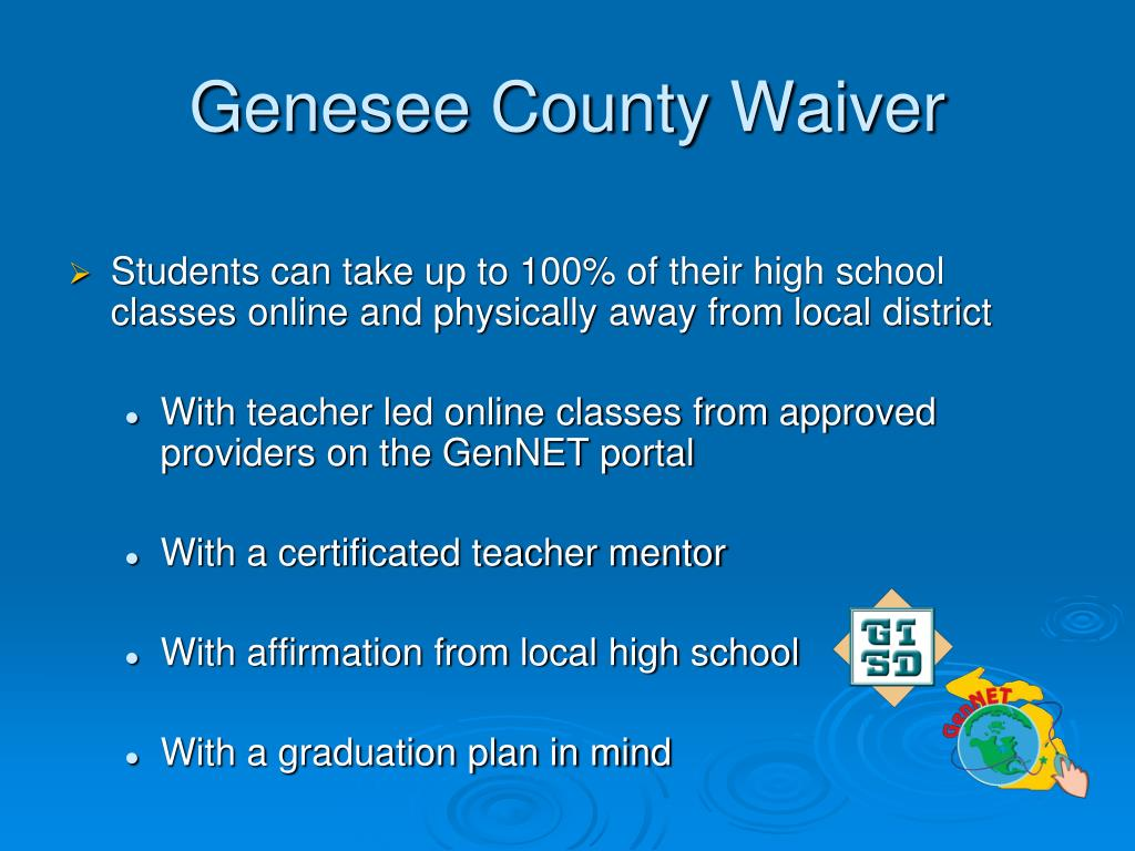Genesee County Waiver