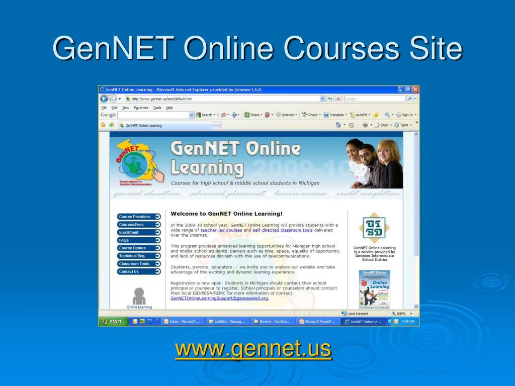 GenNET Online Courses Site