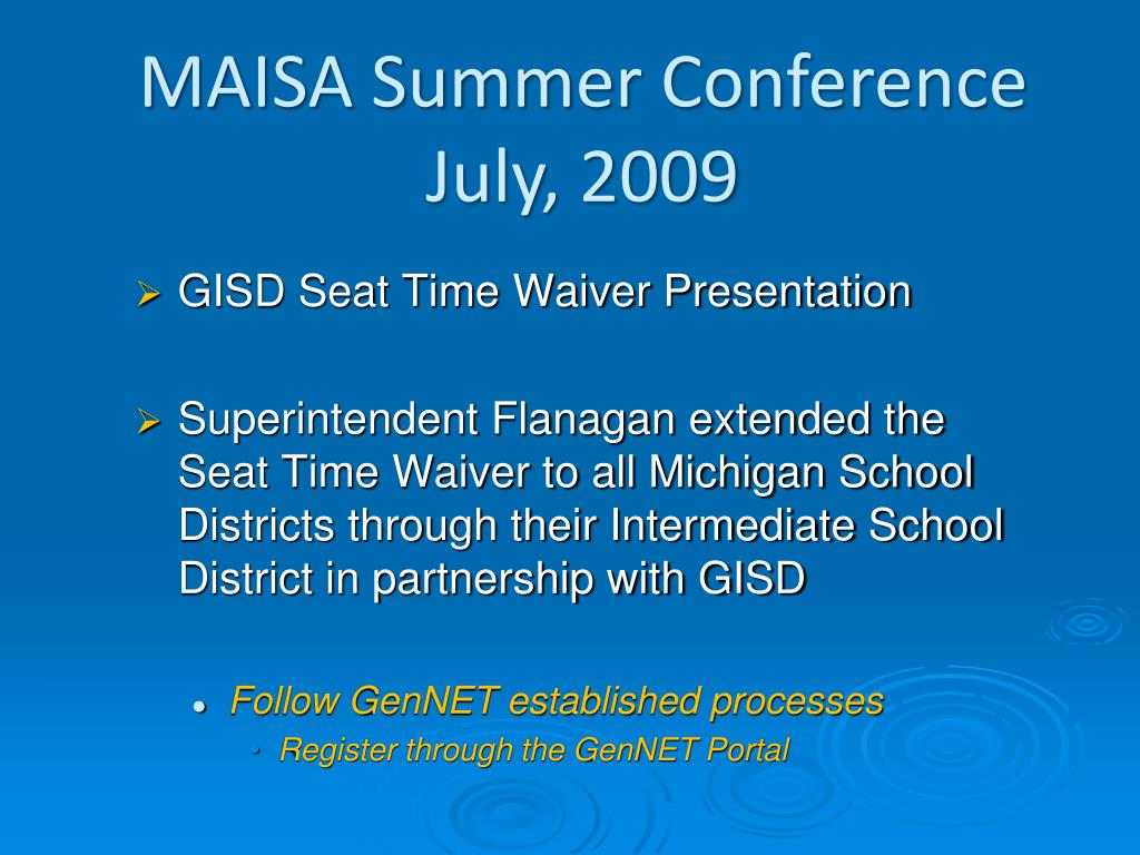 GISD Seat Time Waiver Presentation