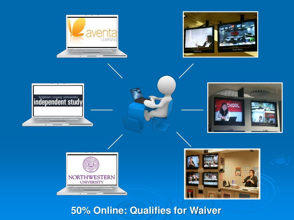 50% Online: Qualifies for Waiver