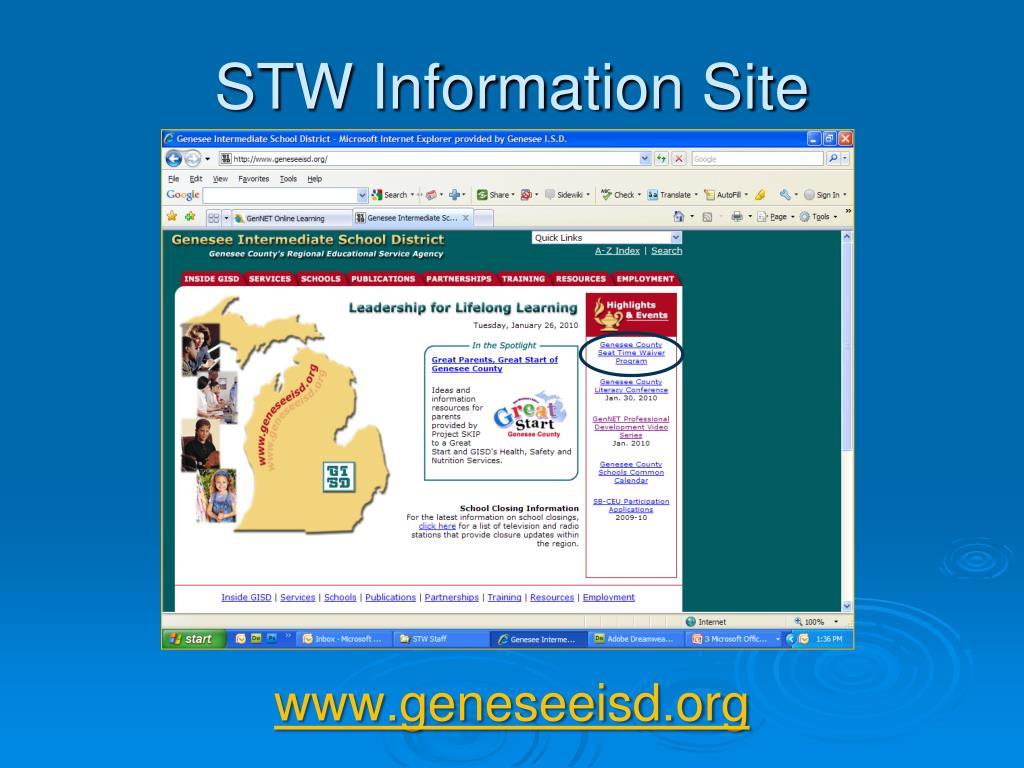 STW Information Site