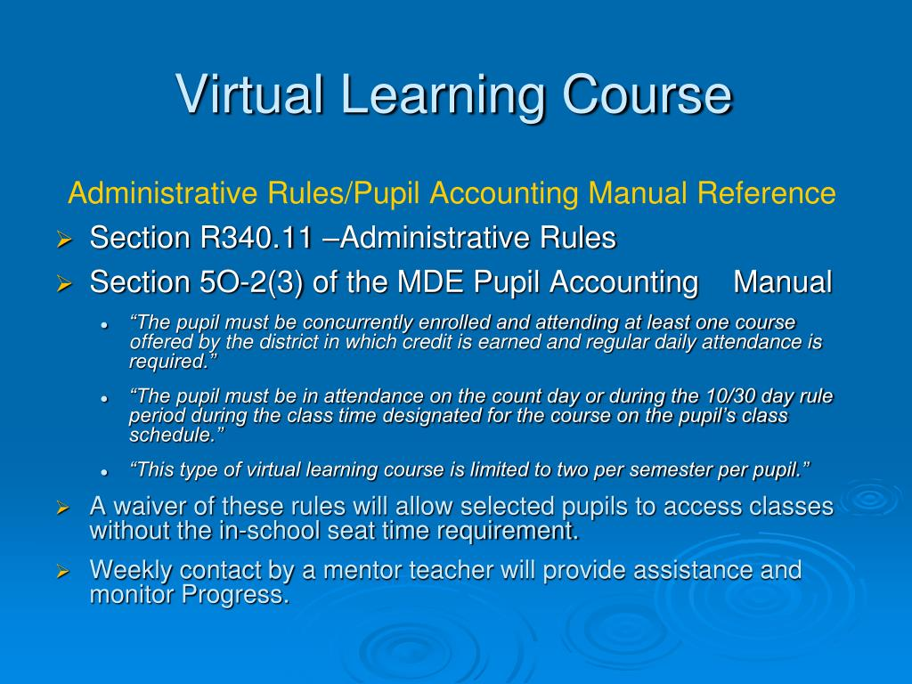Virtual Learning Course