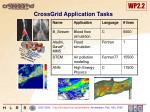 crossgrid application tasks