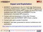 impact and exploitation