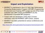 impact and exploitation18
