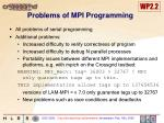 problems of mpi programming