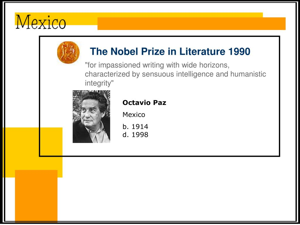 The Nobel Prize in Literature 1990