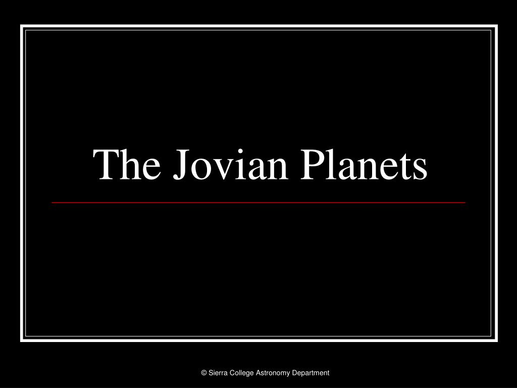 the jovian planets l.