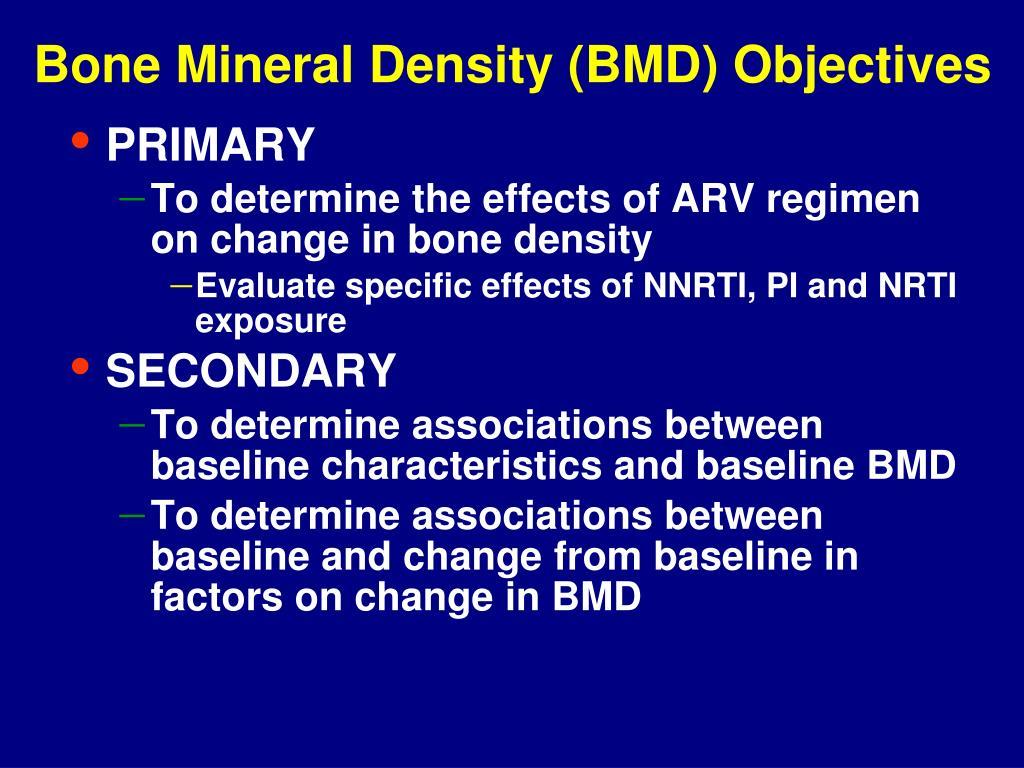 Bone Mineral Density (BMD) Objectives