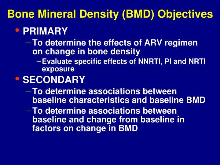 Bone mineral density bmd objectives