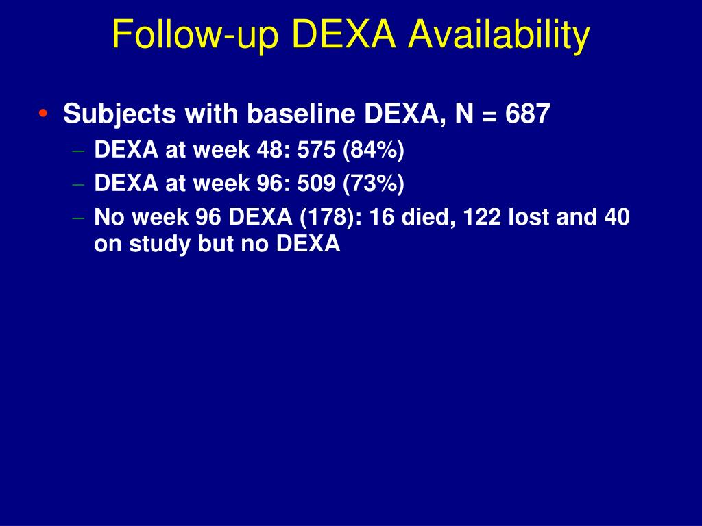 Follow-up DEXA Availability
