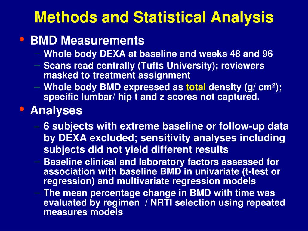 Methods and Statistical Analysis
