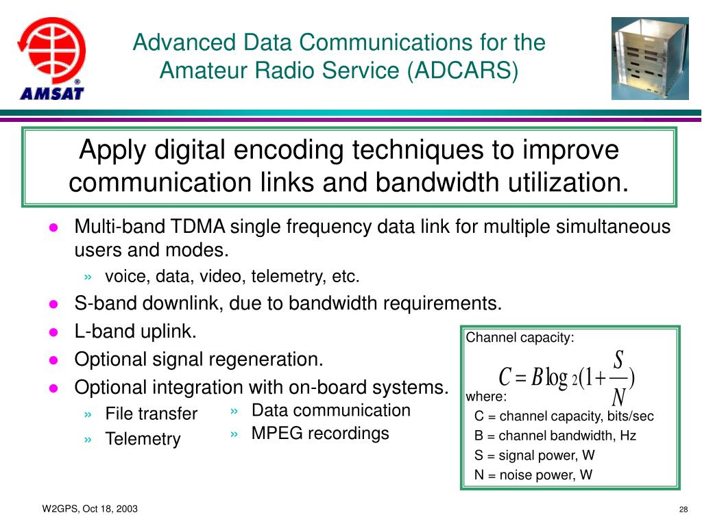 Advanced Data Communications for the Amateur Radio Service (ADCARS)