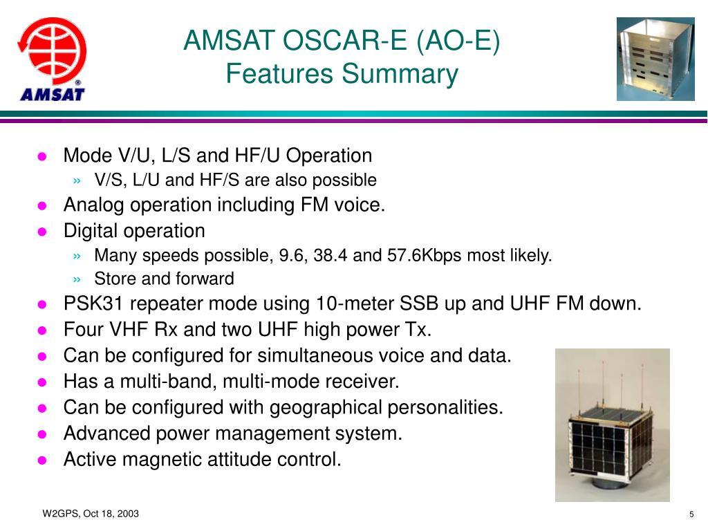 AMSAT OSCAR-E (AO-E)
