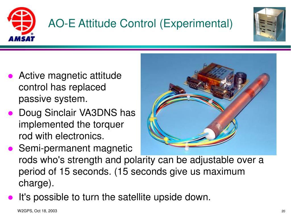 AO-E Attitude Control (Experimental)