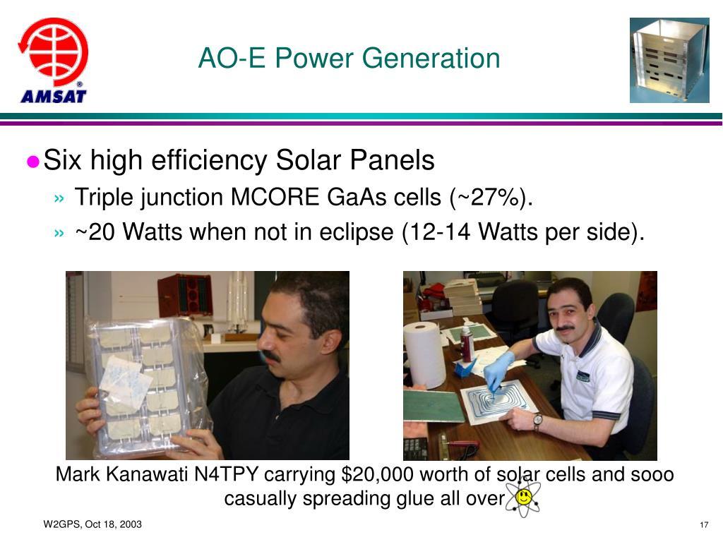 AO-E Power Generation