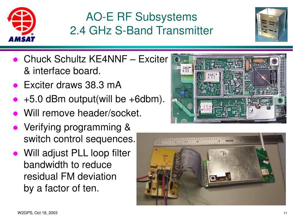 AO-E RF Subsystems