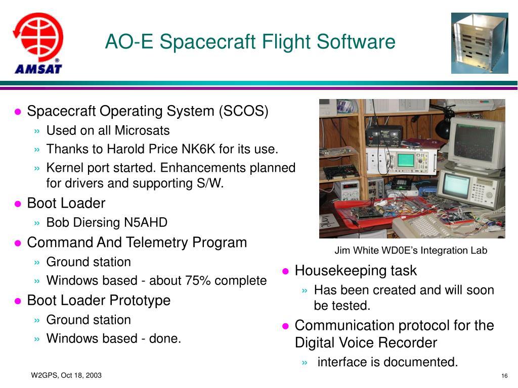 AO-E Spacecraft Flight Software