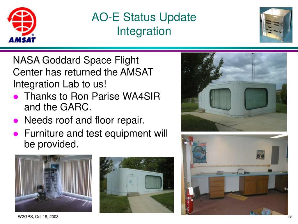 AO-E Status Update