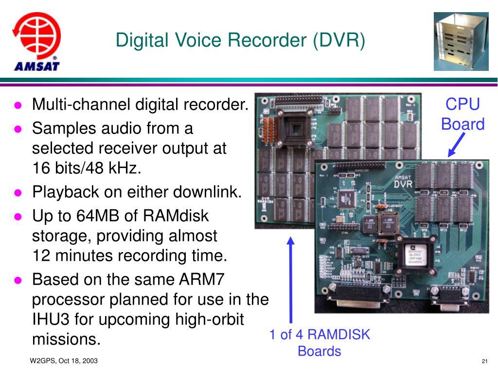 Digital Voice Recorder (DVR)