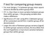 f test for comparing group means