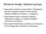 research design between groups