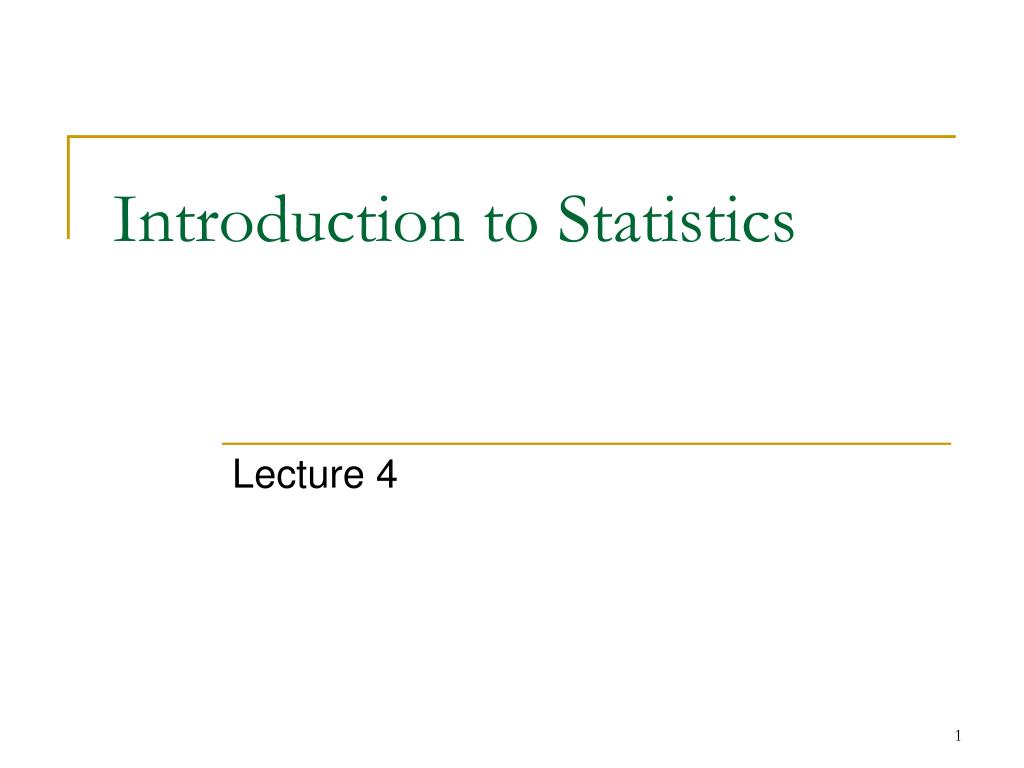 PPT - Introduction to Statistics PowerPoint Presentation - ID:362259