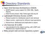 directory standards
