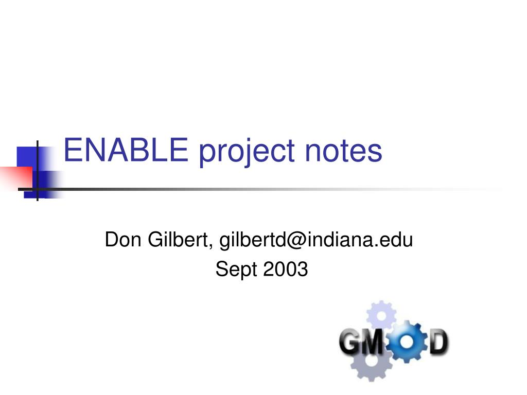 enable project notes l.