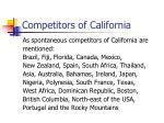 competitors of california