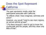 does the spot represent california