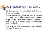 quantitative part structure